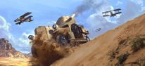 Hitzige Gefechte in der W�ste mit Pferd, Panzer, Zug und Doppeldecker