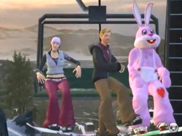 <b>Amped 3 (2K Sports, 2005)</b><br><br>Ein Snowboardspiel. Mit Schneehaserln? Nein, mit einem gigantischen, ausgesprochen rosa Bunny-Kost�m, in dem man die Berge hinab sauste. Bizarr? Sicherlich. Aber gibt es eine sch�nere M�glichkeit ein Spiel zu beginnen, als in einem gigantischen, ausgesprochen rosa Bunny-Kost�m einen Berg hinab zu sausen? Wohl kaum. 1936323