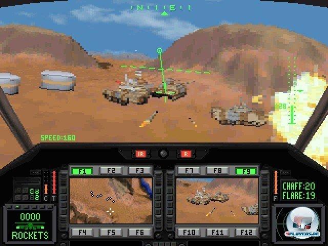 Die Gegner waren dumm wie Stroh, aber dennoch kreuzgefährlich. Vor allem gegnerische Helikopter gingen gerne mal auf Kollisionskurs...
