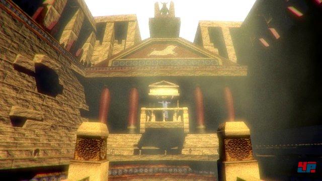 Der Palast von König Minos, von Licht durchflutet. Doch sehr schnell, wird man...