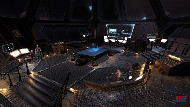 Der offizielle Screenshot täuscht: Auf der Brücke befinden sich höchstens zwei weitere Rebellen. Die Stühle bleiben hingegen leer.