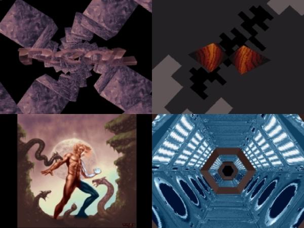 Die Amiga-Demo »Real« von Complex war eines der ersten Werke auf diesem System, in dem explizit Gebrauch von texturierten Objekten gemacht wurde und welches Gouraud Shading einführte.