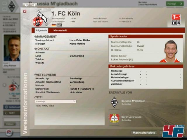 Скриншот из игры FIFA Manager 06 под номером 6. Перейти к скриншоту из игры