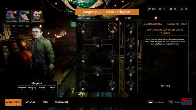 Die Entwicklung der Mutanten könnte mehr Optionen und Tiefe vertragen.