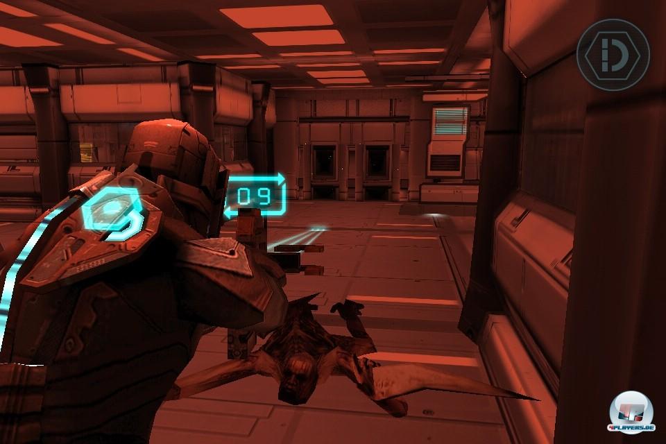 Der gute alte Plasmacutter in Aktion: Die fachgerechte Abs�belung einzelne Nekromorphen-Teile ist nach wie vor eine der S�ulen des Dead Space-Spieldesigns.