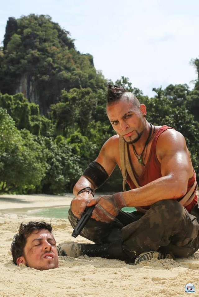 Michael Mando mimt in Far Cry 3 den B�sewicht Vaas Montenegro.