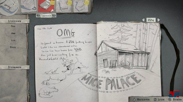 Seans Tagebuch fasst die Geschehnisse in wundervollen Zeichnungen erneut zusammen.