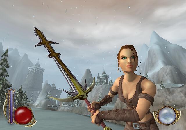 Rynn (Drakan) <br><br> Rote Haare sind scheinbar schwer angesagt unter den Videospiel-Heldinnen: Neben Nariko und Joanna Dark hat auch die Kopfbehaarung der Kriegerin Rynn eine gewisse Ähnlichkeit mit der des Pumuckls. Damit passt sie aber auch stilistisch zu ihrem neuen besten Kumpel, dem roten Drachen, mit dessen Hilfe sie ihren jüngeren Bruder suchen und den fiesen Warthogs die Hölle heiß machen muss.    2147038