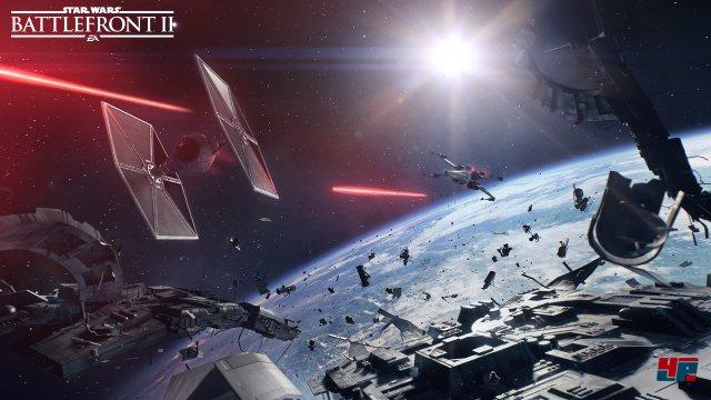 Gewaltige Weltraum-Schlachten soll es ebenfalls geben.