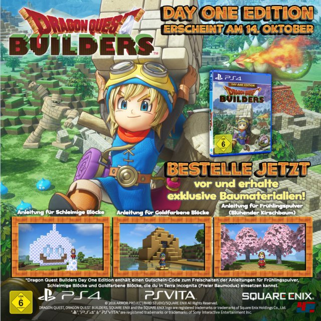 Die Day-One-Edition von Dragon Quest Builders f�r PlayStation 4