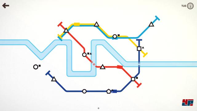 Die ersten Linien sind kurze Verbindungen.