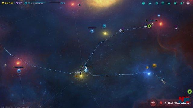 Die Sternensysteme sind mit Sprungpunkten und linearen Routen verbunden.