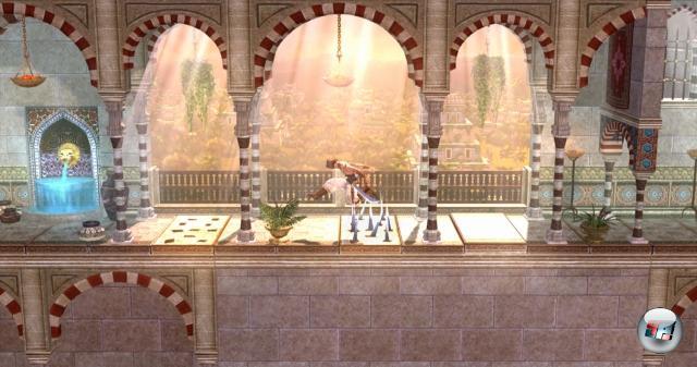 Prince of Persia Classic<br><br>Entwickler Gameloft hätte den einfachen Weg gehen können, den die meisten Konami-Klassiker auf XBLA einschlagen: HD-Hochskalierer an, hochladen das Teil, 400 Punkte kassieren, rummtata. Haben sie aber nicht gemacht - sie haben 800 Punkte genommen. Und Jordan Mechners Klassiker Prince of Persia ein wunderschönes 2 ½D-Gewand verpasst, das u.a. die 3D-Modelle aus Sands of Time nutzt. Resultat: Spielerisch hat sich der persische Prinz nicht verändert. Nur sieht er tausend Mal besser aus als früher. Und ein paar coole neue Moves hat er auch drauf. 1758408