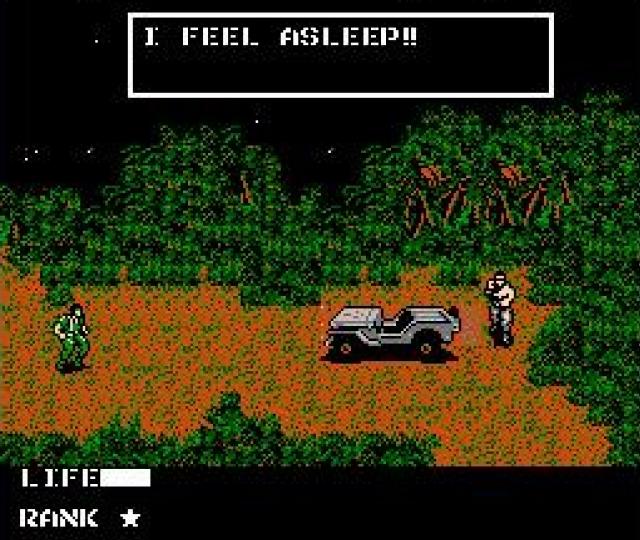 <b>Metal Gear</b><br><br> Auch Gevatter Snake hat mal klein angefangen - was im Falle seines ersten Spiels bedeutet, dass er sich nicht nur seinen Widersachern, sondern auch mit Sätzen wie »The truck have started to move« oder dem Klassiker »I feel asleep« herumschlagen musste. 1776043