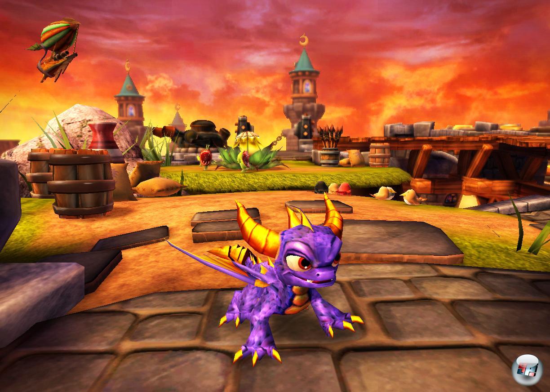 Mit dem klassischen Spyro hat Skylanders nicht so viel zu tun.