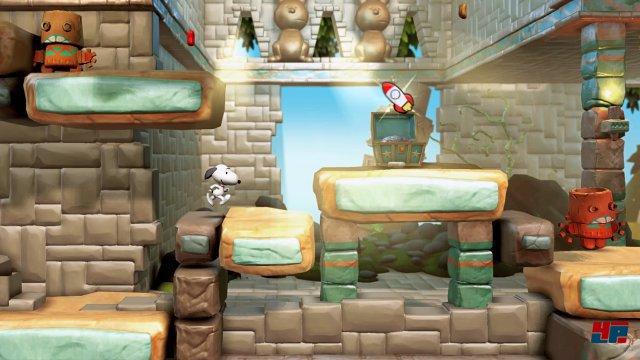 Snoopys Abenteuer wird als klassisches Jump&Run präsentiert.