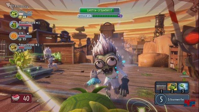 Der Zombie-Wissenschaftler beamt sich übers Schlachtfeld und stellt nützliche Heilbrunnen auf.