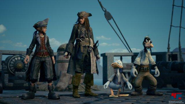 Während des Abenteuers trifft man u.a. auf Captain Jack Sparrow.