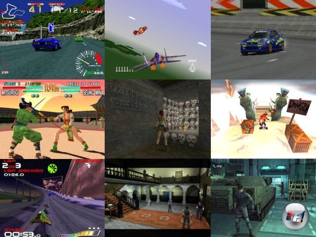 Das Start-Lineup der PlayStation war beachtlich - u.a. waren die Spielhallenumsetzung Ridge Racer sowie der Prügler Battle Arena Toshinden von Anfang an erhältlich, genauso wie Namcos Air Combat, das in Japan allerdings Ace Combat hieß. Nicht nur diese Spieleserie nahm auf der PlayStation entweder ihren Anfang oder zumindest richtig Fahrt auf. Weitere berühmte Kinder mit PS-Wurzeln sind Tekken, Soul Calibur (hier noch Soul Blade bzw. Soul Edge im Japanischen), Tomb Raider, Crash Bandicoot, WipEout, Resident Evil, Tony Hawk´s Pro Skater und Medal of Honor. Nicht zu vergessen Metal Gear Solid, das hier den ersten 3D-Ausflug wagte. Und natürlich Gran Turismo, das mit knapp elf Millionen über die Ladentische gewanderten Exemplaren bis heute das meistverkaufte PlayStation-Spiel ist. Alles in allem wurden über die gesamte Lebenszeit der Konsole knapp 8000 Spiele entwickelt. 2046543