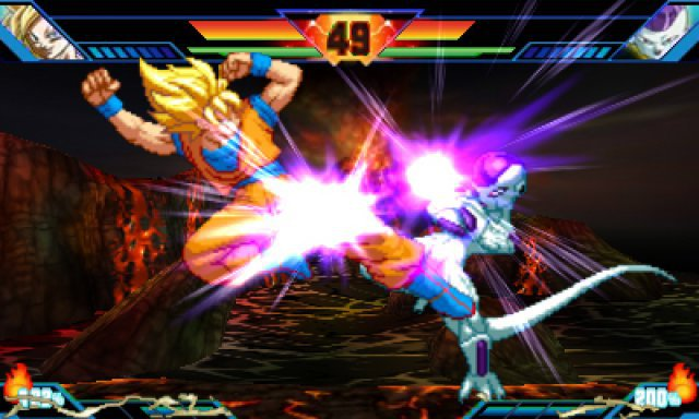 Nicht auf dem Bild zu sehen: Son-Goku ist auch als rothaariger Super-Sayajin-Gott spielbar.