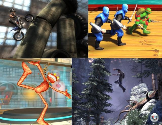 <b>Das beeindruckende Xbox Live Arcade-Line-Up:</b><br><br>Nein, wir sind keine Microsoft-Fanb0is. Oder vielleicht doch, aber auch nur so viel, wie wir auch Nintendo und Sony vergöttern. Jeden Tag ein bisschen mehr, jeden Tag ein bisschen weniger, das Universum bleibt harmonisch. Wie auch immer; Microsofts XBLA-Sortiment verspricht wie letztes Jahr zum »Summer of Arcade« einen fantastischen Spielehaufen für alle Geschmäcker: Shadow Complex sieht wie Bionic Commando Rearmed aus, nur noch besser. Splosion Man zeigt einmal mehr, dass die The Maw-Macher auf gute Weise ordentlich einen an der Waffel haben. Turtles in Time Re-Shelled ist die aufgemöbelte Umsetzung des besten Turtles-Spiels aller Zeiten. Und Trials HD ist die Umsetzung eines absoluten Kult-Indie-Spiels. Bah! Her damit! 1962403