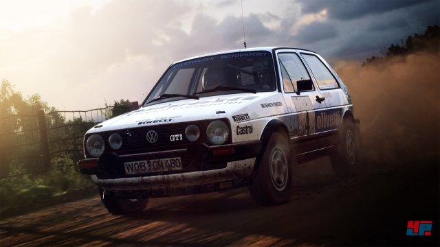 Wir konnten uns bereits in einem 2er-Golf von der hervorragenden Fahrphysik von Dirt Rally 2.0 überzeugen.