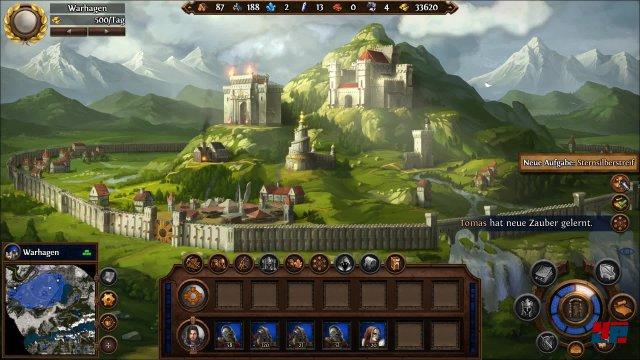 Der klassische Städte-Bildschirm feiert sein Comeback in Might & Magic Heroes 7.