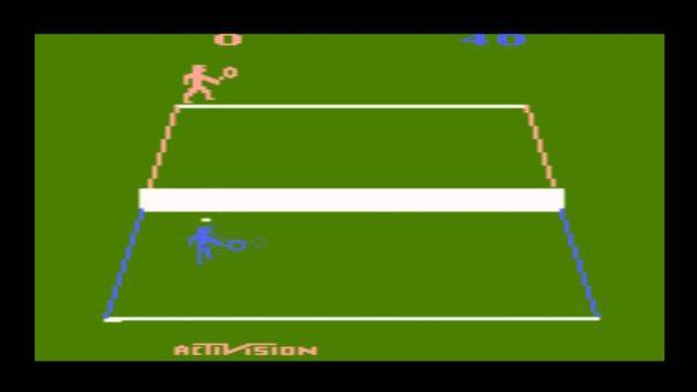 Tennis zählte zu den Highlights für das Atari 2600 System.
