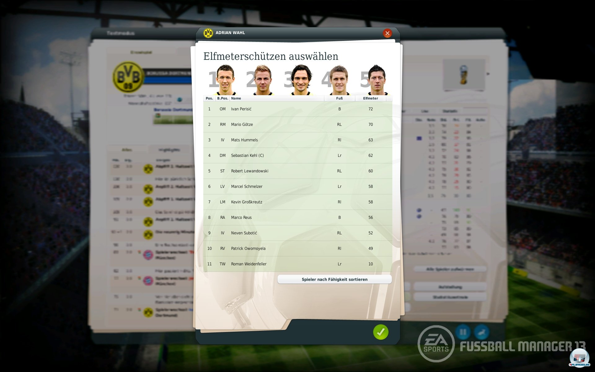 Screenshot fussball manager 13 pc
