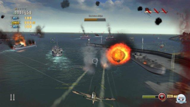 Gegnerische Flugzeuge müssen vom Himmel geholt, Schiffe versenkt und Panzer zerstört werden: Das Missionsdesign gewinnt keine Überraschungspreise, bietet aber ebenso kurze wie knackige Genrestandards.