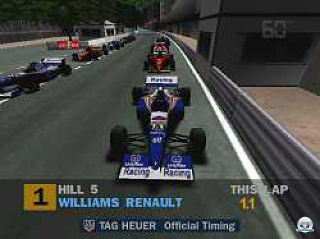 Damon Hill zählt auch im Spiel zu den besten Fahrern im Feld - und startete meist von der Pole Position, wenn man sie ihm nicht doch noch in der Qualifikation weg schnappte.