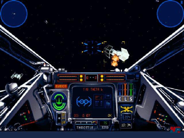 Als Konkurrenz zu Wing Commander schickte LucasArts den Space-Simulator X-Wing ins Rennen.
