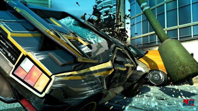 Die Geschwindigkeit und Crash-Seqeuenzen machen auch in der Remastered-Version viel her - auf PS4 Pro und One X sogar in einer 4K-Auflösung