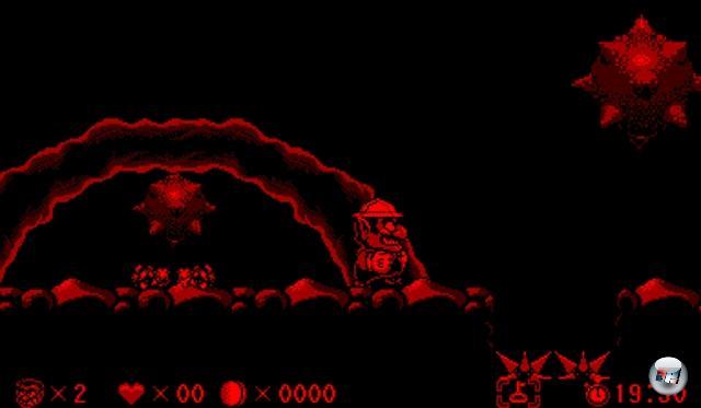 <b>Virtual Boy Wario Land</b> <br><br> Ein weiterer lohnenswerter Titel ist Warios Virtual-Boy-exklusives Jump-n-Run. Die meiste Zeit über läuft Nintendos dreckig grinsender Antiheld von links nach rechts. Manche Bosse lauern allerdings im Hintergund und attackieren aus der Tiefe des Raumes. 2211717