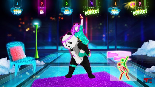 Mit der Xbox One können bis zu sechs Spieler vor dem Kinect-Sensor abtanzen.