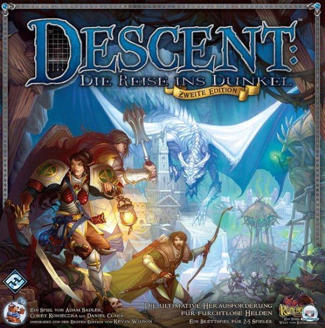 """Die zweite Edition von """"Descent - Die Reise ins Dunkel"""" ist beim Heidelberger Spielverlag für knapp 55 Euro auf Deutsch erschienen."""
