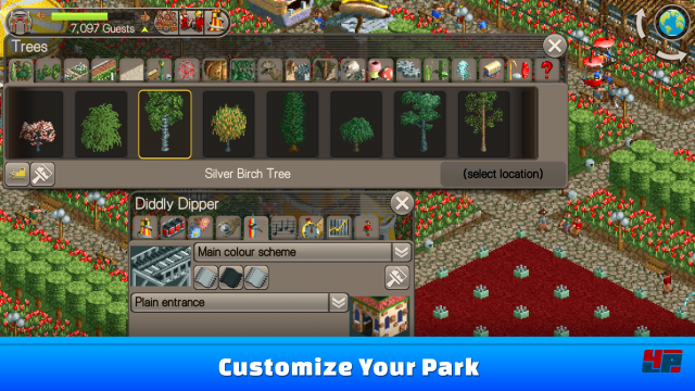 Screenshot - RollerCoaster Tycoon (Android)