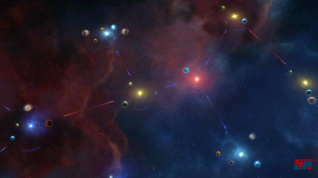 Die Sonnensysteme sind mit linearen Wurmloch-Routen verbunden.
