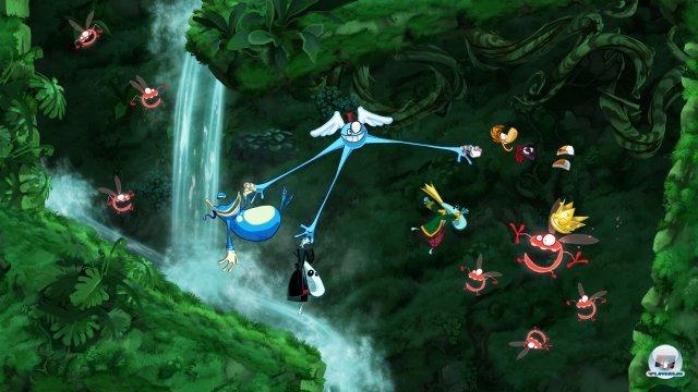 Fast wie früher, nur noch lustiger: Auch in der PC-Fassung prügeln sich bis zu vier Spieler durch Raymans alberne Welt.