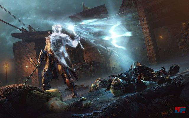 �ber Runen kann mein seine drei Waffen (Dolch, Schwert, Bogen) aufr�sten.