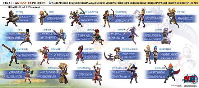 In Final Fantasy Explorers wird es 21 verschiedene Job-Klassen geben.