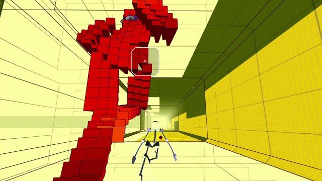 Rez <br><br>  Rez ist ein gutes Beispiel dafür, dass es nicht immer nur die reine Polygon-Power sein muss, um an den Bildschirm zu fesseln. Trotz der minimalistischen, aber dennoch effektgeladenen Grafik zieht einen dieses etwas andere Ballerspiel in seinen Bann und ist dabei eine audiovisuelle Offenbarung.   2088203