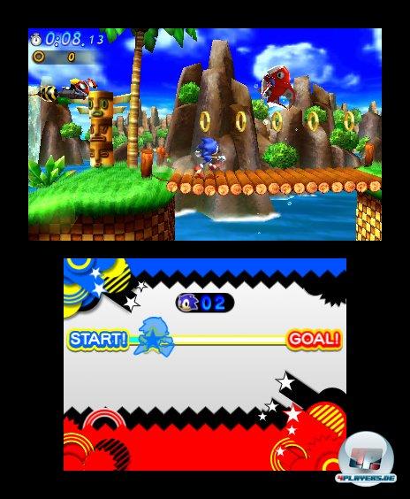 Blauer Himmel und saftige Wiesen: Die sauber scrollenden Kulissen sehen auch auf dem 3DS idyllisch aus.