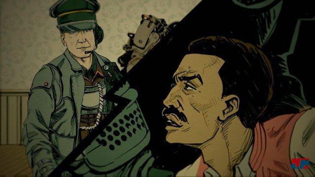 Anstatt der cineastischen Zwischensequenzen aus The New Colossus wird die Geschichte diesmal in mittelprächtiger Comicform fortgeführt.