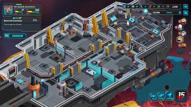 Der Ausbau von Schiff und Crew ist ein wichtiger Teil des Abenteuers.