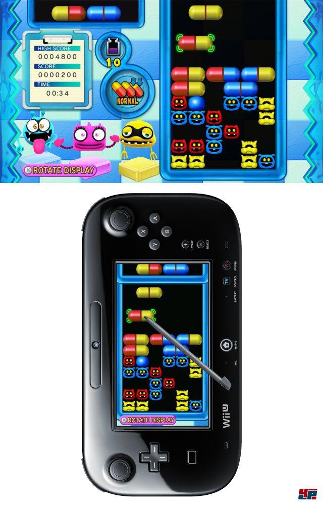 Die WiiWare-erprobte Bazillenjagd lässt sich sowohl im Quer- als auch Hochformat spielen.