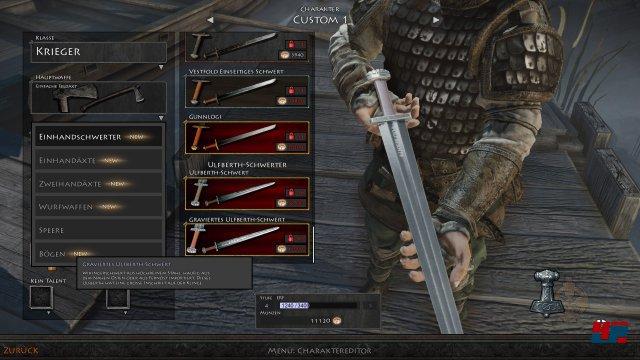 Im Charaktereditor findet sich ein Sammelsurium an historischen und legendären Waffen.