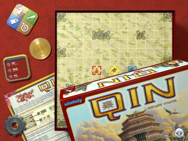 Zeitgleich zum Brettspiel erschien Qin von Reiner Knizia auch als digitales Spiel für iOS.