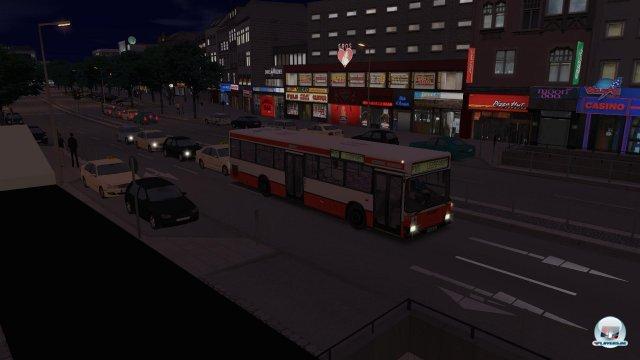 Der Kiez (Reeperbahn) bei Nacht.