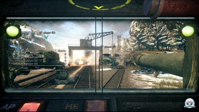 Volltreffer: Nahe Feinde lassen sich direkt durch das Sichtfenster anpeilen.